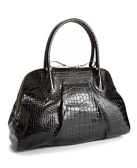 Alfani Greenwich Croco Small Dome Satchel