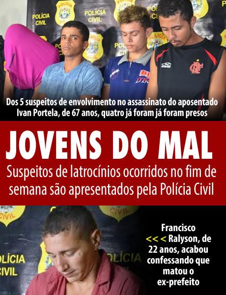 Suspeitos de latrocínios ocorridos no fim de semana são apresentados pela Polícia Civil