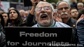 Демонстрация в поддержку свободы слова в Турции