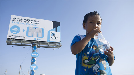 billboard pulls water from the air