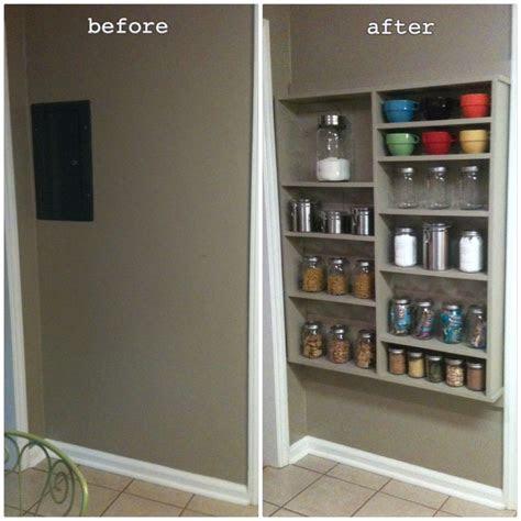 shallow open pantry shelves  kitchen ideas  kitchen