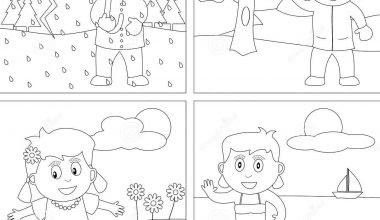 Mevsimler Boyama Sınıf öğretmenleri Için ücretsiz özgün Etkinlikler
