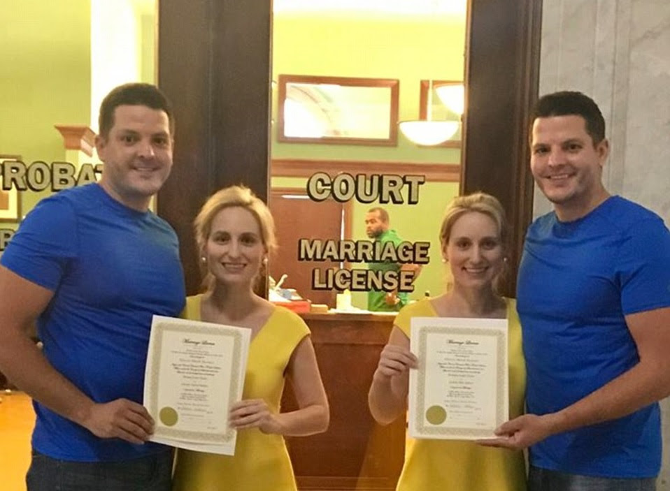 The siblings got married and August in Twinsburgh, naturally. Credit: Summit County Probate Court