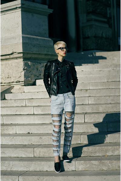 Topshop shoes - Sheinside jacket