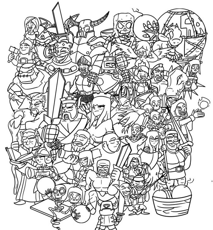 Coloring Pages Clash Royale Morning Kids