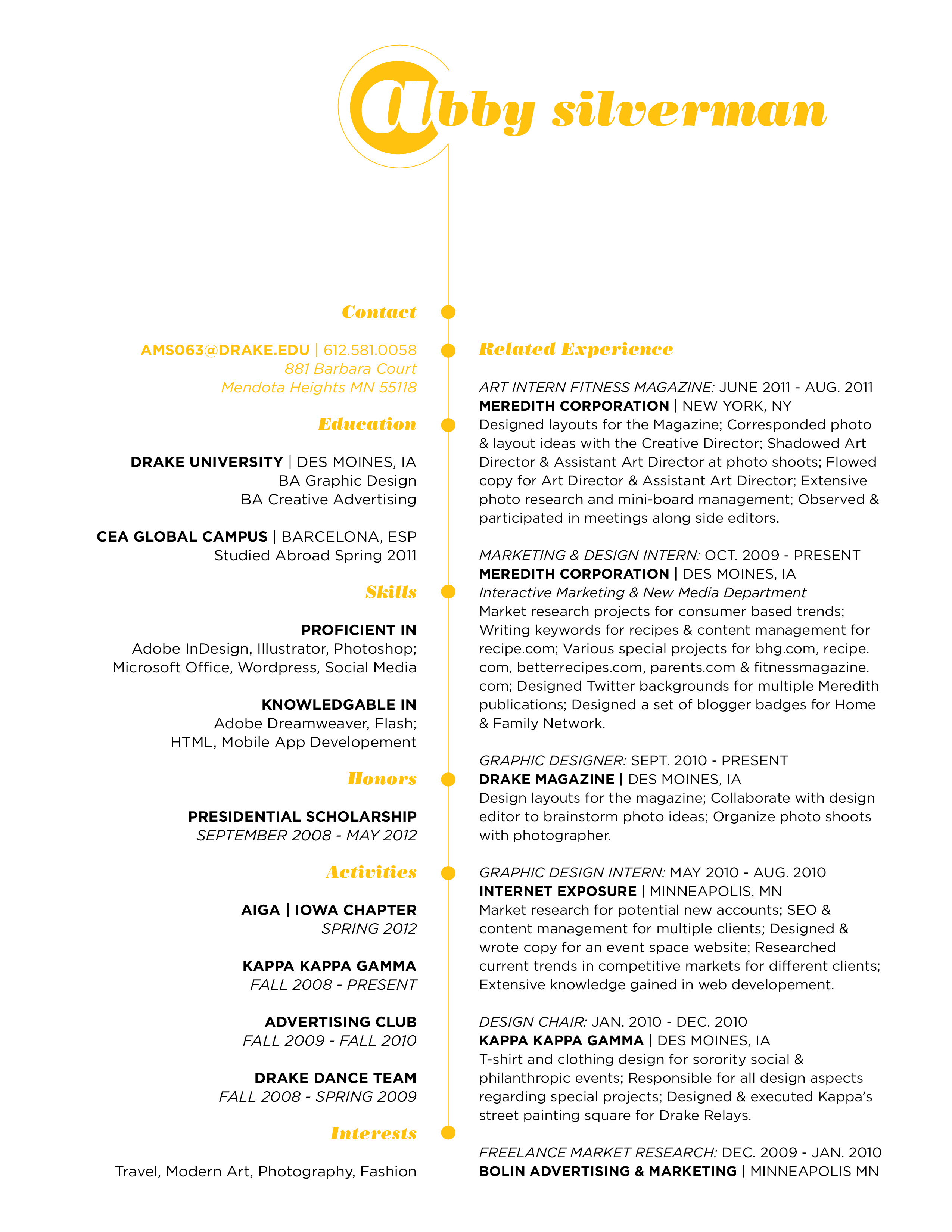 Resume and Cover Letter Design Update