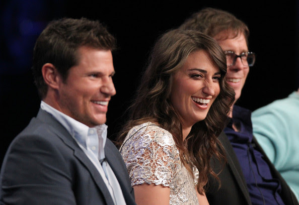 Nick Lachey (L-R) Host Nick Lachey and judges Sara Bareilles and Ben Folds speak during 'The Sing-Off' panel during the NBC Universal portion of the 2011 Summer TCA Tour held at the Beverly Hilton Hotel on August 1, 2011 in Beverly Hills, California.