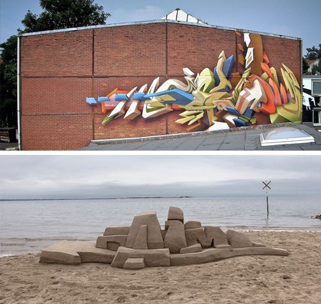 3d graffiti wall sand