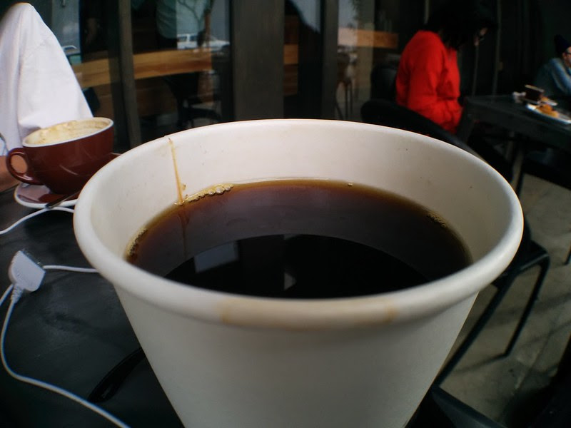 Wideangle Shot of Coffee