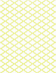 LETTER/STANDARD size JPG Chartreuse sketched Moroccan Tile paper 350dpi