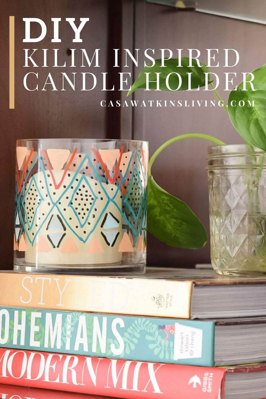 Kilim Inspired Candle Holder