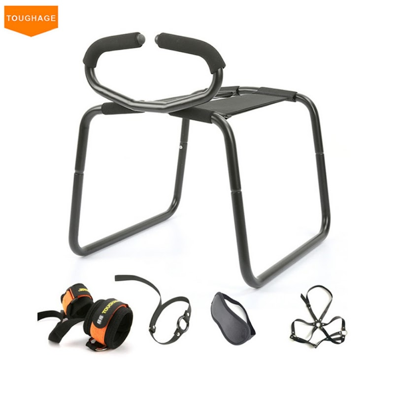 Hot  Toughage Weightless Sex Chair + Handcuff Sex Mask Erotic ToysFun Couple Elastic Love Chair Adult Se
