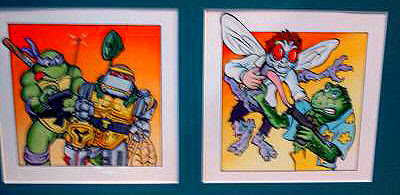 ** Official TMNT art work auction listings by Mirgae studios Alumni ..Steve Lavigne **