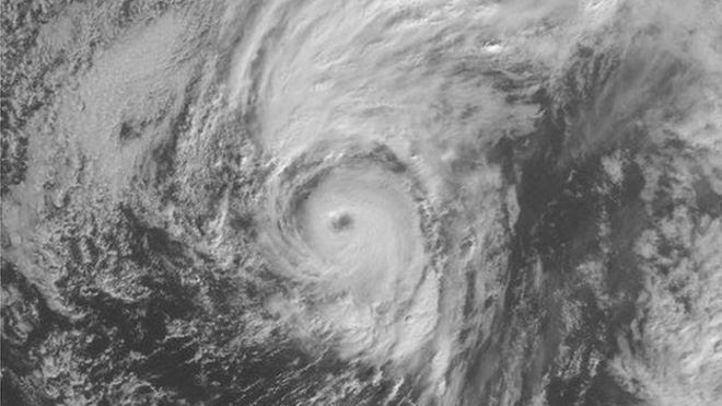 Satellite image shows Hurricane Alex forming over the Atlantic Ocean