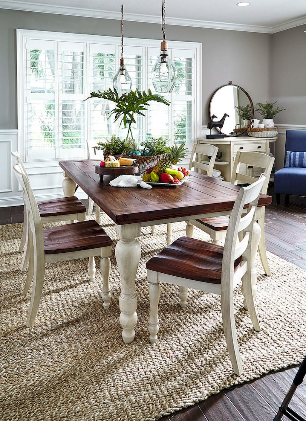 65 Timeless Farmhouse Dining Room Table and Decorating ...