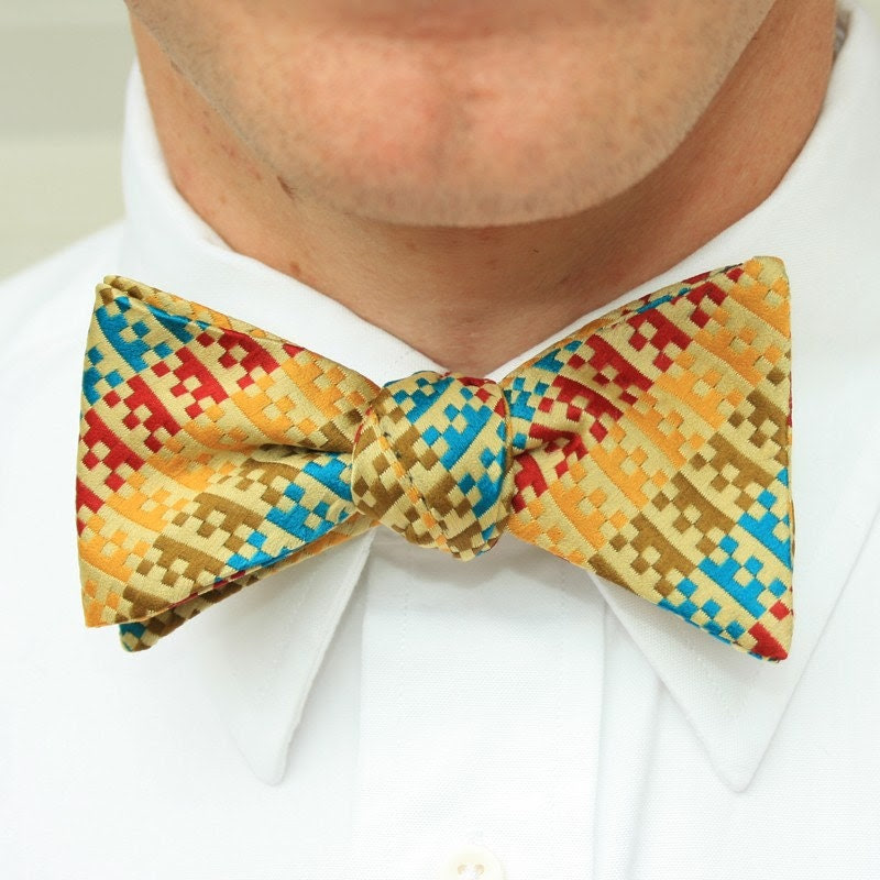 freestyle bow tie- bright geometric