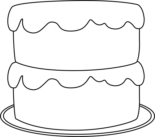 Birthday Cake Clip Artblack And White Pictures Images And