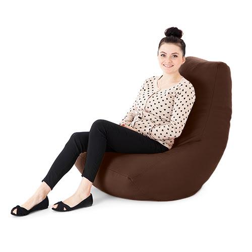 Faux Leather Adult Bean Bag Gaming Chair Gamer Beanbag ...