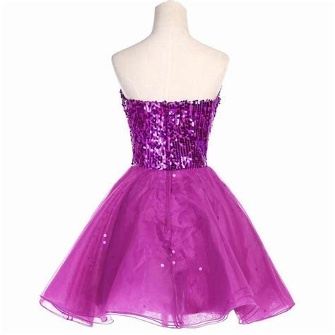 Sparkly Bridesmaid Dresses Grace Karin Purple Black Gold