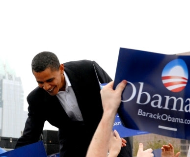 President Elect Obama on the Campaign Trail