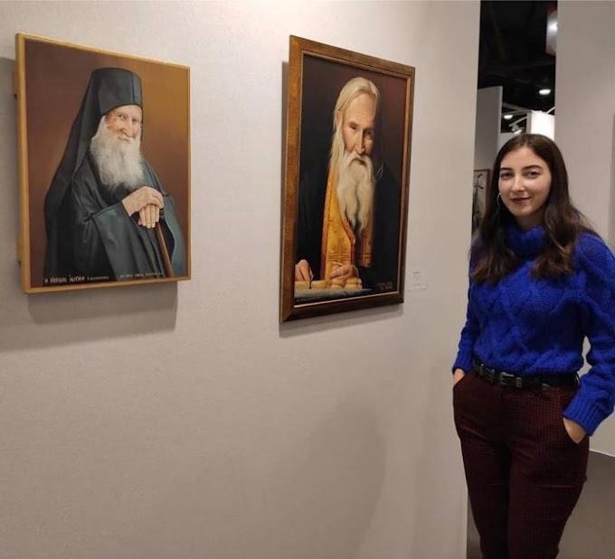 Η ταλαντούχα Καλυμνιά ζωγράφος Μαρία Απορέλλη στη διεθνή έκθεση art3f στις Βρυξέλλες με τρεις πίνακες.