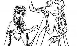 Anna Ve Elsa Yeter Boyama Sayfası
