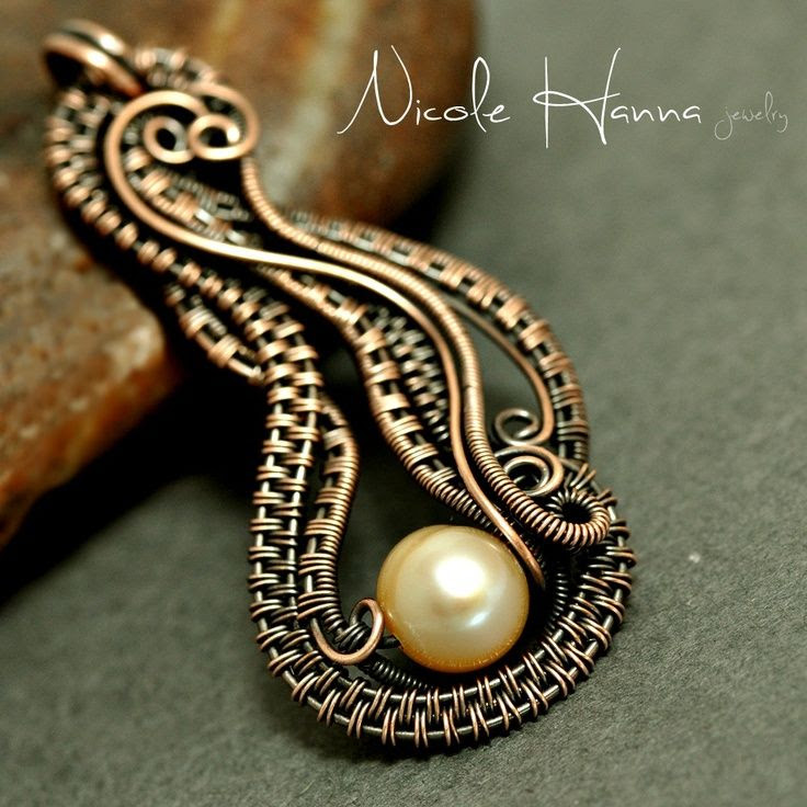 Wire weaving jewelry | Eight Beautiful Wire-Weaving Jewelry Tutorials | Jewerly Design Inspi ...