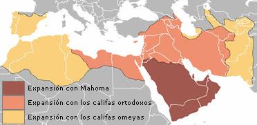 Expansión del Islam durante el Califato Omeya