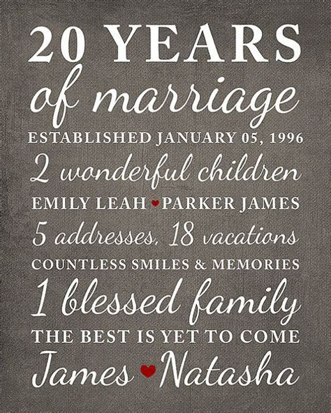 17  best ideas about 20 Year Anniversary on Pinterest   20