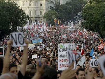 La última gran movilización de los sindicatos contra los recortes tuvo lugar el pasado 19 de julio.
