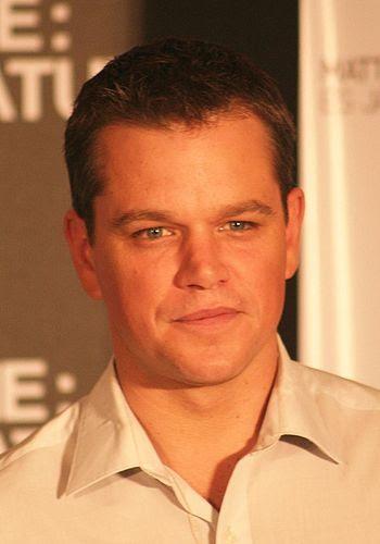 Matt Damon at a presentation for The Bourne Ul...