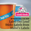 NEW! Label Out Loud Stickies from Mabel's Labels.