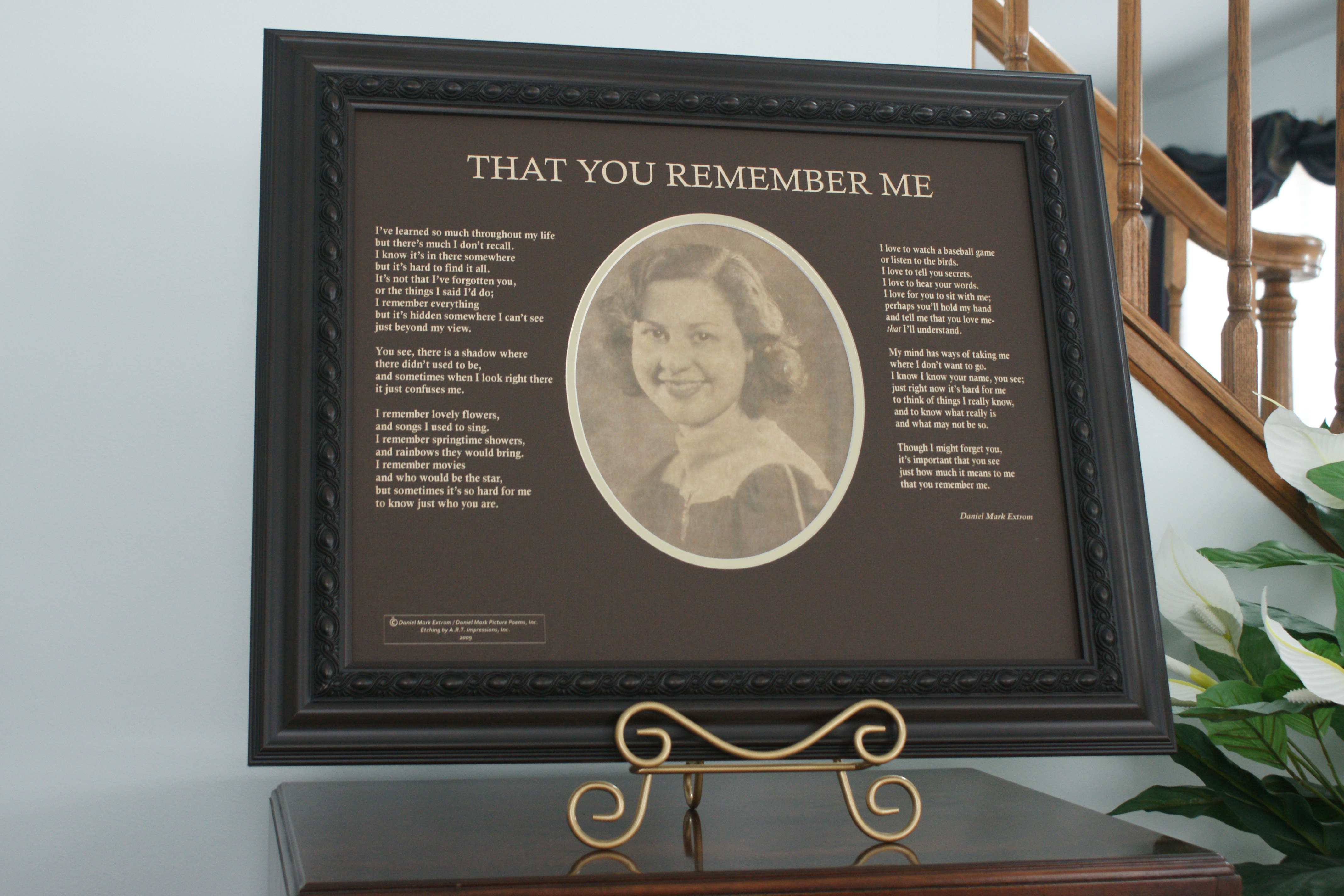 That You Remember Me An Alzheimers Poem Daniel Mark Picture Poems