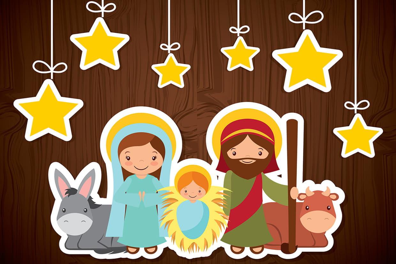 Coloriage Cr¨che de No l et Nativité