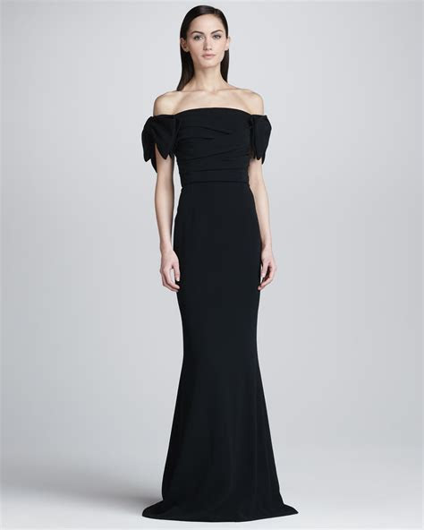 Lyst   Dolce & Gabbana Dropped Sleeve Fit and Flare Gown