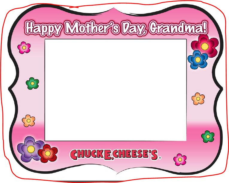 Mothers Day Printable Picture Frame From Chuck E Cheese No Time Mommy