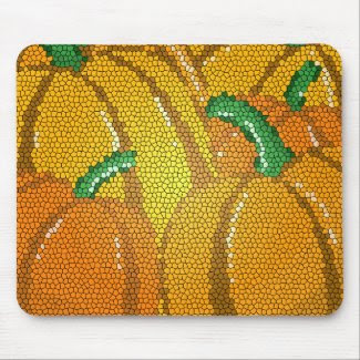Stained Glass Pumpkins Mousepad mousepad