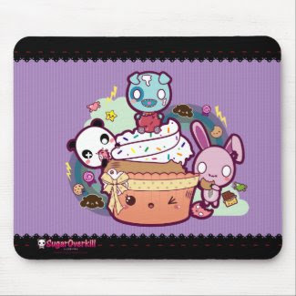 Kawaii Cupcake Attacked! mousepad