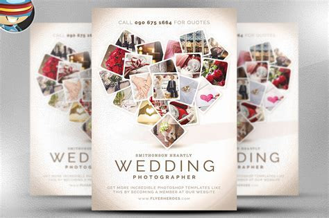 Wedding Photographer Flyer Template on Behance