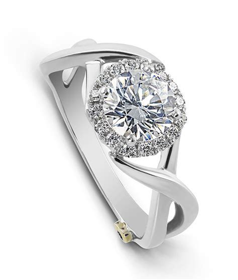 Aura: Modern Engagement Ring   Mark Schneider Design