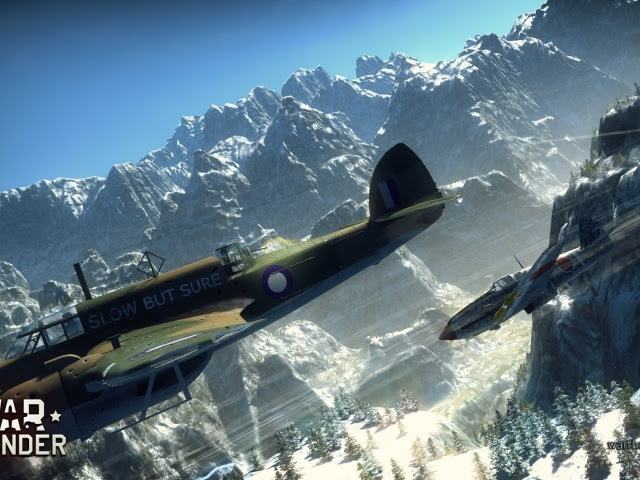 War Thunder planes flying over the hills wallpapers and images - wallpapers, pictures, photos