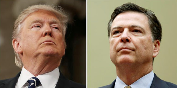 President Trump and former FBI Director James Comey (Photo: Twitter)