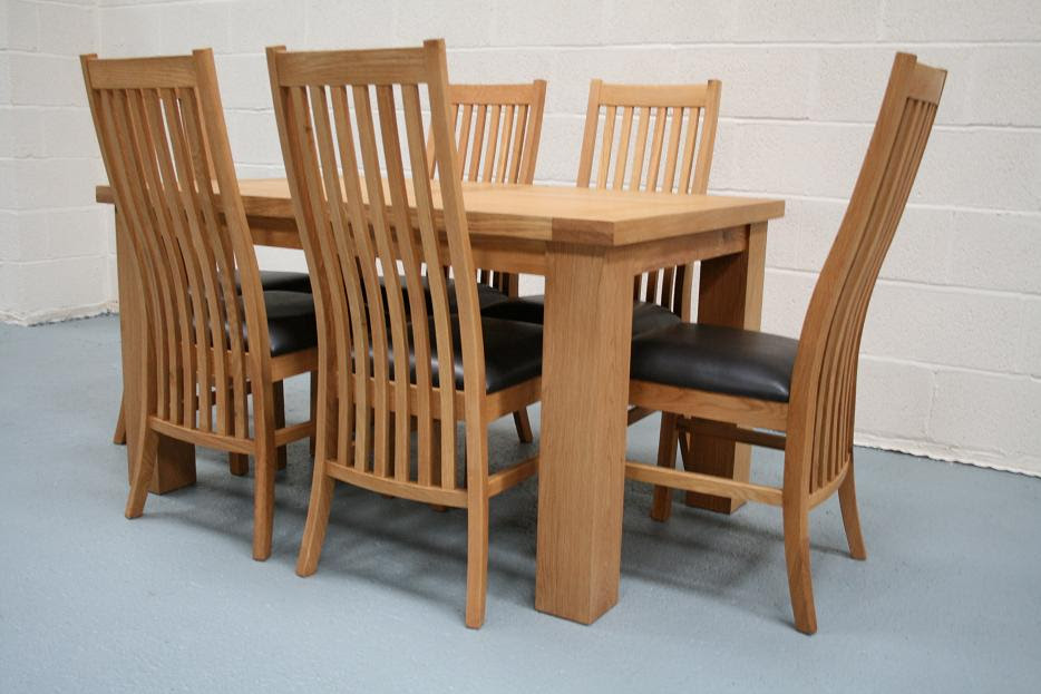 Riga Oak Table \u0026 Chair Set with Matching Lichfield Oak Chairs