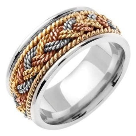 NAUTICAL ROPE DESIGN BAND   Wedding Rings   Handmade Style
