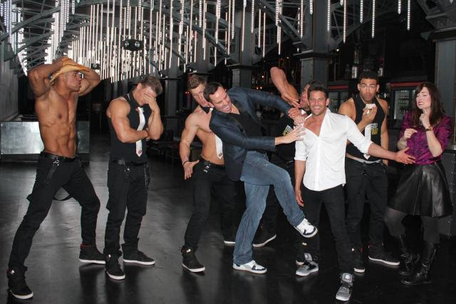Jeff Timmon anf Mr. Fab 98 Degrees Men of the strip (1)