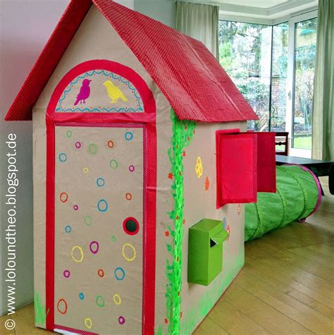 diy spielhaus aus kartons kartonhaus zum spielen
