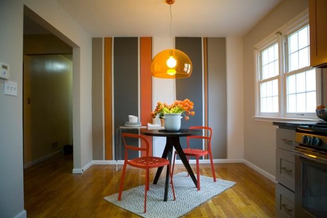 Fari 39 nin d nyas ideen f r farbige streifen an der wand - Streich ideen wohnzimmer ...