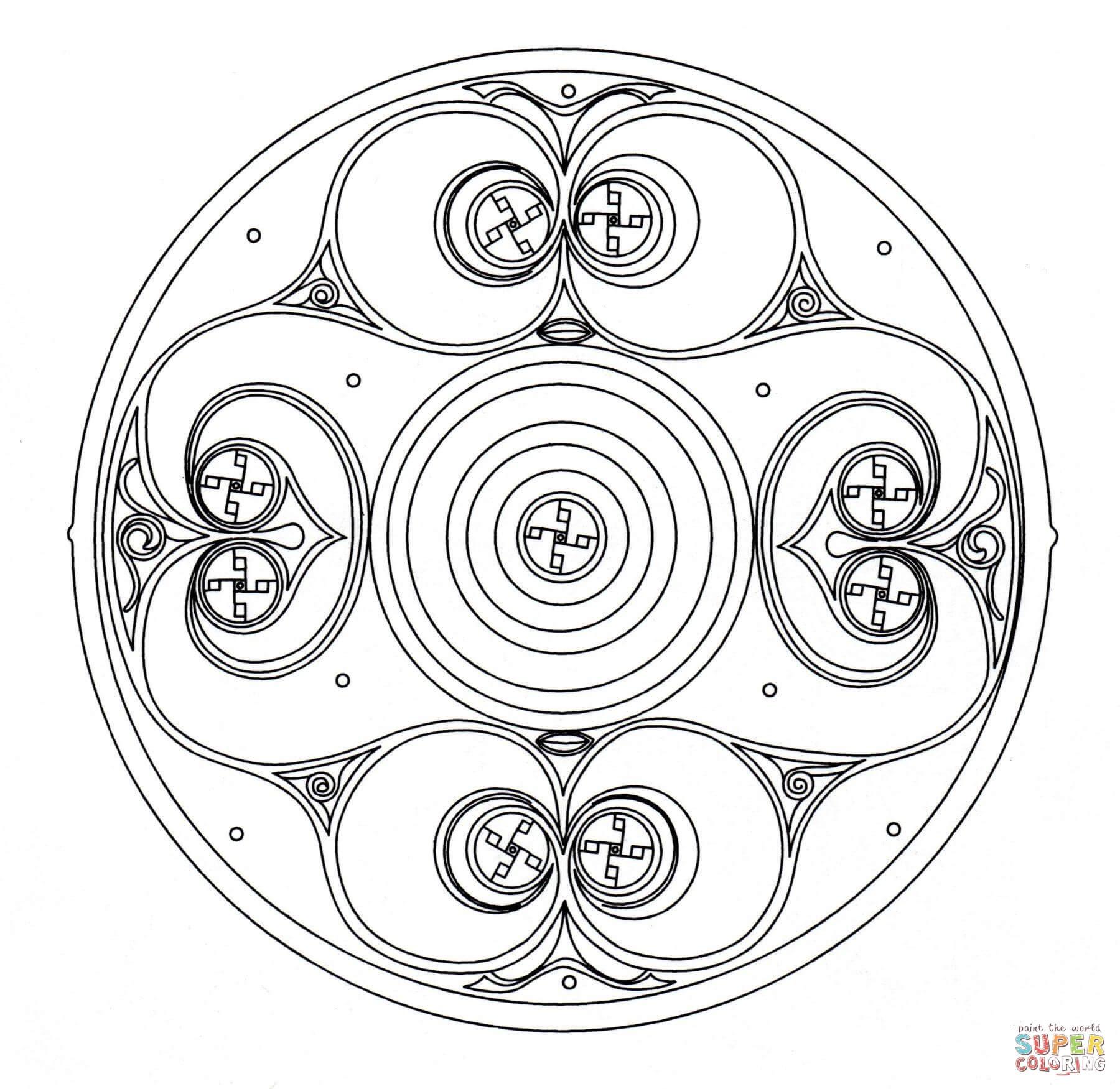 Dibujo De árbol De La Vida Celta Para Colorear Dibujos Para