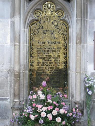 Jane Austen memorial plaque