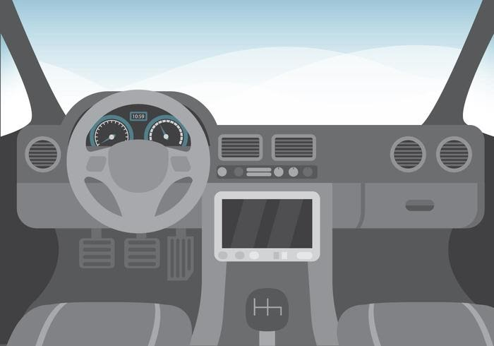 Car Interior Illustration